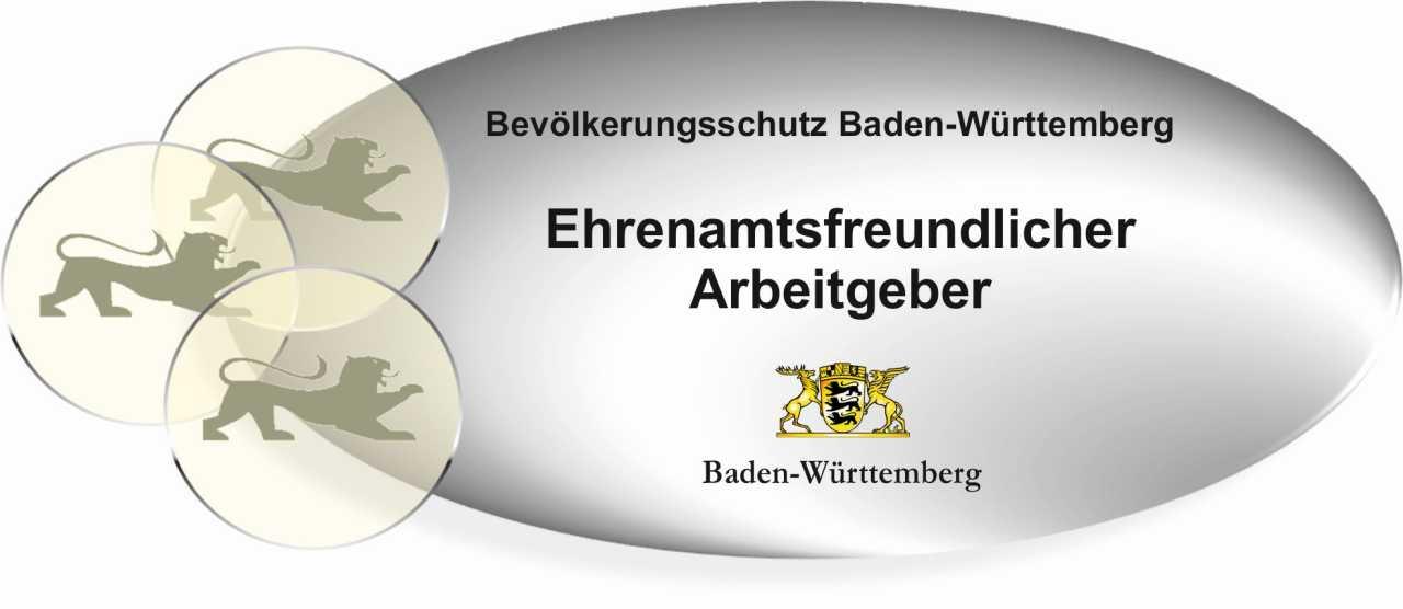 """Logo """"Ehrenamtsfreundlicher Arbeitgeber im Bevölkerungsschutz"""""""